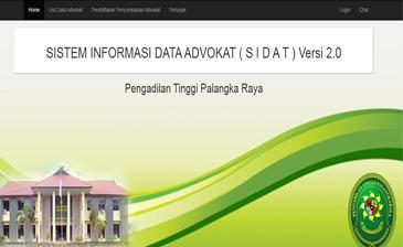SISTEM INFORMASI DATA ADVOKAT (SIDAT)